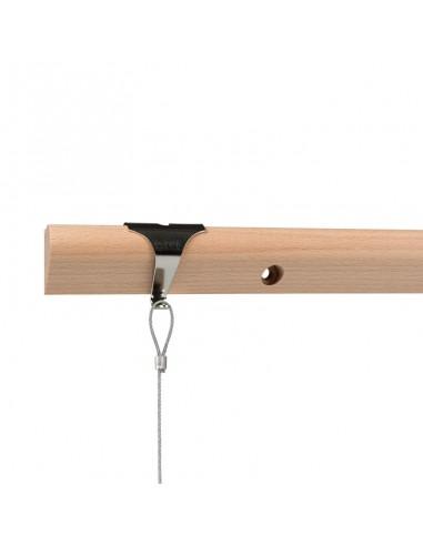 System zawieszeń z szyną drewnianą
