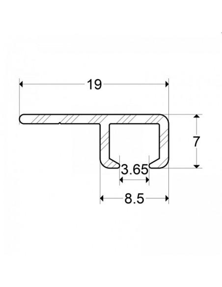 Szyna galeryjna MINI - wymiary